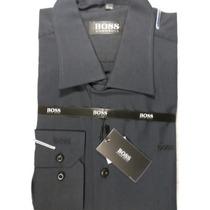 Camisa Social Masculina M/l De Grife Hugo Boss Tam. G