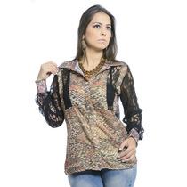 Camisa De Musseline Estampada #ref: 2564