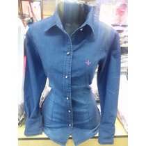 Camisa Dudalina Jeans Feminina Modelo 2015 Frete Grátis