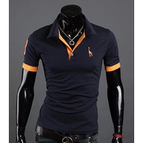 Gola Polo Masculina Camisa Camiseta Slim Fit Importada Novo