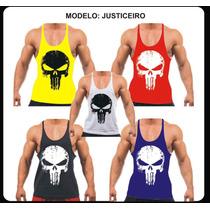 Camiseta Regata Super Cavada P/ Musculação Div Modelos