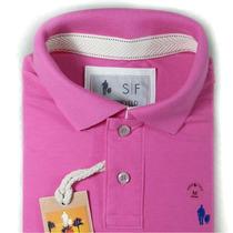 Camisa Polo Piquet 100% Algodão Masculina Original