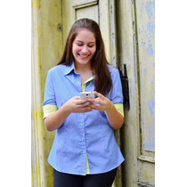 Camisa Jeans Feminina Plus Size 46 48 50 52 54 56 58 60 62
