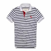 Camiseta Polo,listrada,abercrombie,original-á Pronta Entrega