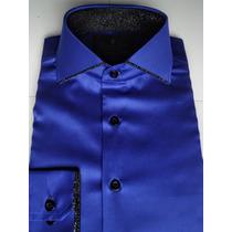 Camisa Masculina 100%algodão Egípcio Slim Sport Fio 100 Luxo