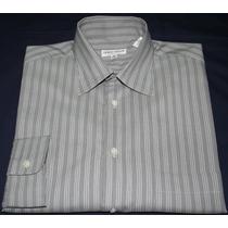 Camisa Social Giorgio Armani Cinza Listrada Tam. 38