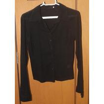 Camisa Social / Casual M. Officer Tecido Fino Transparente