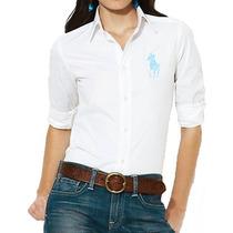 Camisa Social Polo Ralph Lauren Feminina Branca