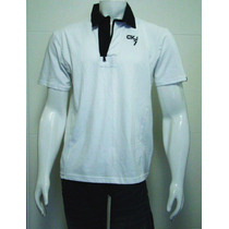 Camisa Polo Calvin Klein Branca Masculina Nova Tm Gg