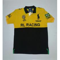 Camisa Polo Halph Lauren Rl Racing Brasil Frete Gratis