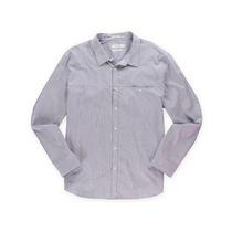 Calvin Klein Masculino Fino Fit Botão Acima Vestido Camisa
