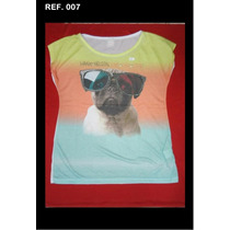 Kit 10 T-shirts Feminina Pedraria Atacado P/ Revenda