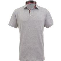 Camisa Polo Slim Fit Royal Cinza Mescla