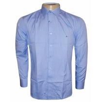 Camisa Social Ricardo Almeida Azul Claro Ra888 -frete Grátis