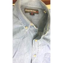 Camisa Jeans Manga Comprida Excelente Estado