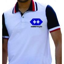 Camisa Gola Polo Curso Administração Bordada