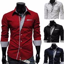 Camisas Masculinas Sociais Importadas De Luxo Frete Grátis