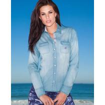 Camisa Social Dudalina Feminina Jeans