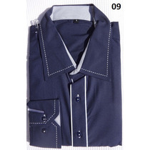 Camisa Social Masculina Tamanho 5 - Manga Longa Importada