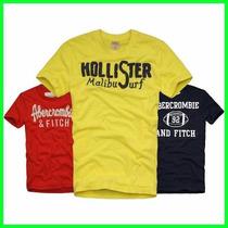 10 Camisetas Recorte Laser Abercrombie Hollister Aeropostale