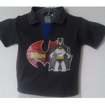 Camisa Polo Infantil Menino Batman