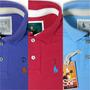 Kit 3 Camisetas Polo Masculinas Qualidade Importada Original