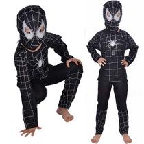 Fantasia Infantil Homem Aranha Todos Os Tamanhos! P/m