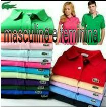 Camisas Gola Polo Kit C/03 Pçs Lacoste Tommy Hilfger E Outra