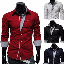 Camisa Social Masculina Slim Fit Luxo Importada Frete Grátis