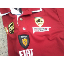 Camisa Polo Masculina Ferrari Gola Dupla + Frete Grátis