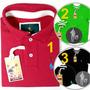 Novo Kit 1 Polo + 2 Camisetas Com Metal, Marca S&f Original