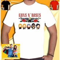 Camiseta Guns Roses South Park Camiseta Banda Humor Rock Ac