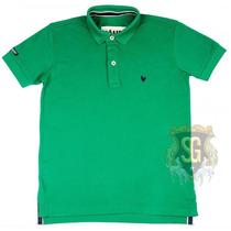 Camisa Polo Masculina Verde Bandeira 6152 - Jaum Jaum