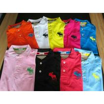 Camisetas Gola Polo Lacoste Abercrombie E Hugo Boss Original