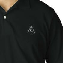 Camisa Camiseta Polo Bordada Maçonaria A Pronta Entrega