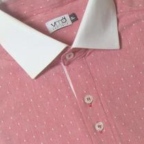 Camisa Social Algodão Gola Branca Maquinetada 50 1012