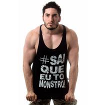 Camiseta Regata Cavada Musculação Sai Que Eu To Grande