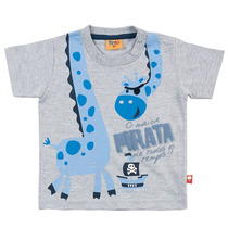 Domanikids - Camisa Infantil Masculino Girafa Rolú