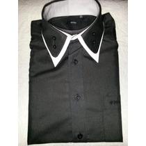 Camisa Social Slim Fit Masculina Boss Preta.