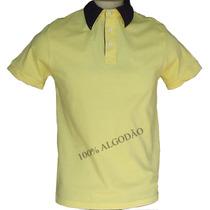 Camisa Polo 100% Algodão Gola Diferenciada - Frete Grátis