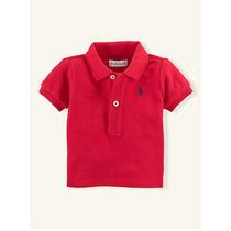 Camisa Polo Ralph Lauren Infantil Menino Vermelha 2 Anos