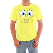 Camisa Bob Esponja Em Malha Dryfit Alta Qualidade