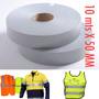 Fita Tecido Refletiva P/ Tecido E Uniformes 10 Mts X 50 Mm