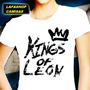 Kings Of Leon Camiseta Baby Look Feminina Camisa Banda Mocas