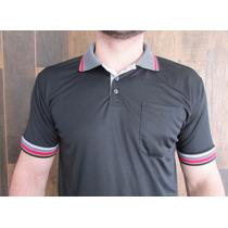 Camisa Tamanho Grande Gola Polo Dry Fit Detalhes Malha Fria