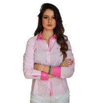 Camisa Feminina Barata Preta Branca Lilás E Rosa