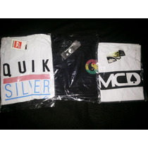 3 Camisas Town Country + Mcd + Quiksilver Frete Grátis P/ Br