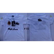 Camisa Polo Infantil, Ralph Lauren. De 2, 4 E 6 Anos.