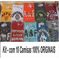 Camisetas Abercrombie E Hollister Originais - 10 Peças