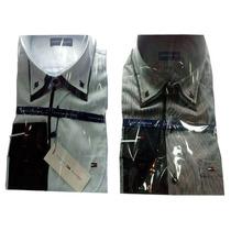 Camisa Social Masculina Thf Listras Finas Branca